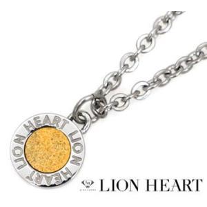 LION HEART ライオンハート 04N126SLYG ステンレス メンズ/レディース サークル ネックレス/ペンダント シルバー×イエローゴールド|j-sekine2nd