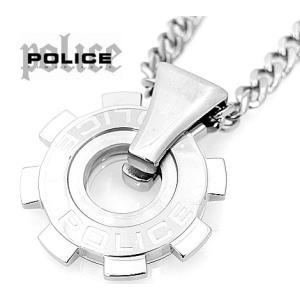 POLICE ポリス 24232PSS01 ギアモチーフ  ペンダント/ネックレス シルバー|j-sekine2nd