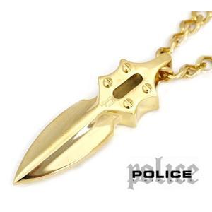 POLICE ポリス 20575PSG03 キャスティングアロー IMPACT ステンレス ゴールド ネックレス/ペンダント|j-sekine2nd