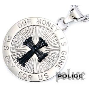 POLICE ポリス 25563PSB-A TRANSCENDENCE サークル クロス ネックレス/ペンダント シルバー×ブラック|j-sekine2nd