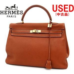 HERMES エルメス ケリー35 ハンドバッグ 2WAYバッグ トリヨンクレマンス ブラウン ゴールド金具 内縫い □C刻印 1999年製 ランクAB 中古品|j-sekine2nd