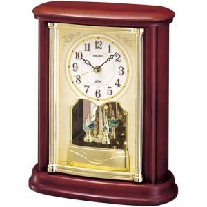 セイコー 電波置時計(木枠) BY227B 電波時計/置き時計|j-shop