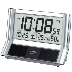 セイコー 電波置時計 ハイブリットソーラー&シースルーパネル SQ690S 電波時計/置き時計/置時計|j-shop