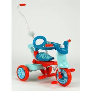 BENETTON(ベネトン) Oritrio Tricycle BE オリトリオ2三輪車 YA-1319(オレンジ/ブルー)|j-shop