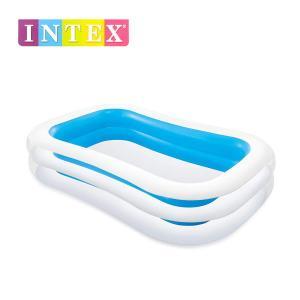 インテックス スイムセンターファミリープール305 ME-7028/ベランダやお庭で水遊び・水あそび・家庭用・人気の子供用大型ビニールプール・大型プール|j-shop