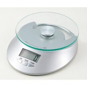 クリアミー2 デジタルキッチンスケール3kg用 時計機能付 D-0025 クッキングスケール・お料理はかり・量り・秤・お菓子作り道具・キッチンウェア|j-shop
