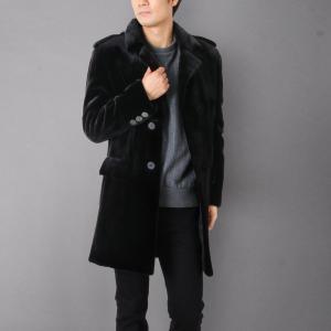 シェアード ミンク チェスターコート メンズ KOPENHAGEN FUR 秋冬 ブラック M/L(No.01000352) j-white