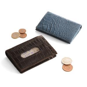 クロコダイル多機能 パスケース マット 小銭入れ 紙幣入れ 付き   メンズ 革小物|j-white
