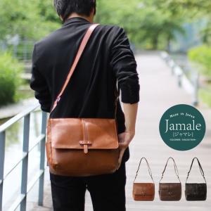 [Jamale]ジャマレ 日本製 ショルダーバッグ   メンズ 牛革 小さめ 軽い ベルト デザイン 革小物 ブランド|j-white