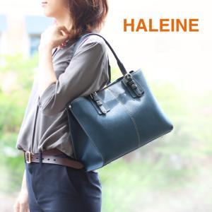 HALEINE ブランド バッグ レディース トートバッグ サフィアーノ レザー A4 通勤 肩掛け(No.07000098)|j-white
