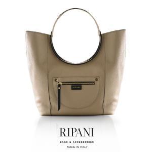 RIPANI[リパーニ]イタリア製 牛革トートバッグ サークルハンドル デザイン (大) / レディース ブランド|j-white