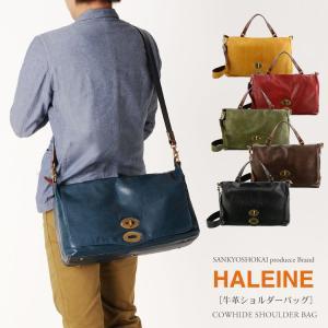 HALEINE [アレンヌ] アンティーク加工 牛革 ショルダーバッグ  日本製 メンズ 革小物 ブランド|j-white