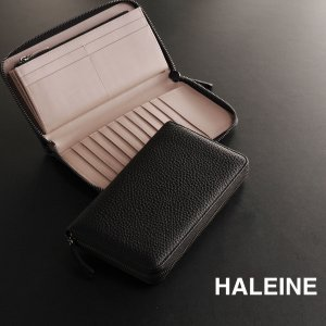 HALEINE[アレンヌ] 本革 ラウンドジップ 長財布 シュリンク レザー フルオープン / メンズ  送料無料 ブランド|j-white