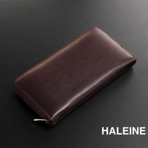 HALEINE[アレンヌ] 牛革 メンズ 長財布 ラウンド ジップ / フランス製レザー / ラウンド ファスナー ブランド|j-white