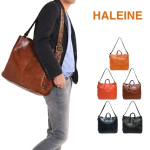 HALEINE[アレンヌ] 牛革 ショルダーバッグ イタリア製 牛革ベルト / メンズ  送料無料 ブランド j-white
