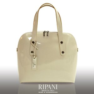 [RIPANI]リパーニ イタリア製 牛革 エナメル ハンドバッグ A4 対応 / レディース ブランド|j-white