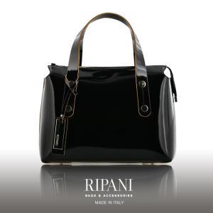 [RIPANI]リパーニ イタリア製 牛革 エナメル ハンドバッグ 2WAY 仕様 / レディース  送料無料 ブランド|j-white