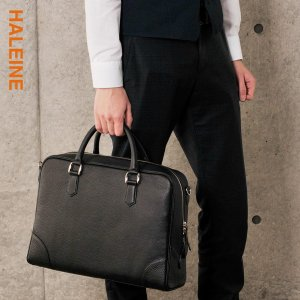 HALEINE[アレンヌ] ハンドバッグ 2WAY ブリーフバッグ ナチュラルシュリンク / メンズ(No.07000211-mens-1)|j-white