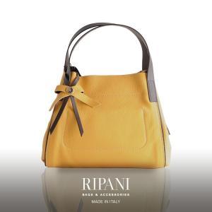 [RIPANI] リパーニ 牛革 トート バッグ リボン付き イタリア製 レディース 全3色 本革 軽量 送料無料 トートバッグ ハンドバッグ|j-white