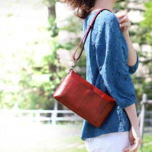 本革 バッグ レディース 2way 日本製 ブランド HALEINE ハンドバッグ ショルダーバッグ 女 ポシェット (No.07000323)|j-white