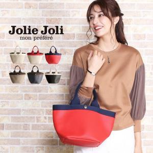 [Jolie Joli] ジョリージョリ トート バッグ スカーフ 付き バイカラー 迷彩 柄 レディース 全5色(07000329r)|j-white