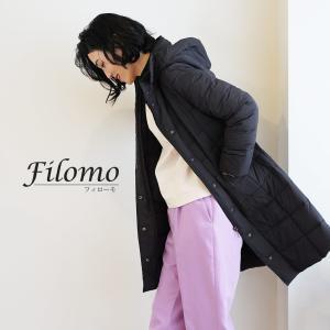 Filomo ストレッチ ダウン コート フード付き レディース M/L/LL ベージュ/ネイビー/ブラック(No.08000127)|j-white