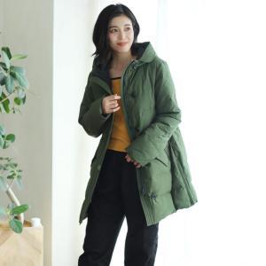 Filomo [フィローモ] ミドル 丈 ダウンコート レディース フード付き 大きい ブランド|j-white