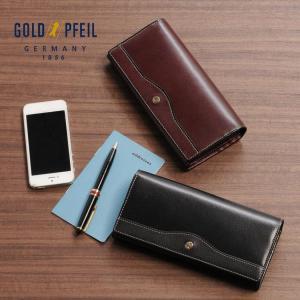 GOLDPFEIL [ゴールドファイル] 牛革 長財布 かぶせ付き 日本製 / メンズ (No.09000045-mens-1) j-white
