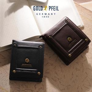 GOLDPFEIL [ゴールドファイル] バッファローレザー 二つ折り財布 小銭入れ付き ブランド|j-white
