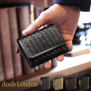 [doob London] ドゥーブロンドン 本革 折り財布 ゴートイントレチャート / メンズ 革小物 ブランド|j-white