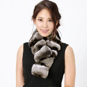 毛皮/チンチラ マフラー カラー(No.308234) j-white