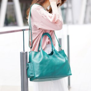 Jamale 日本製 牛革 2way バッグ ショルダーバッグ カウレザー a4 対応 レディース 大きめサイズ 鞄 通勤バッグ 本革 A4 軽い 軽量 女性 大容量(No.7346)|j-white
