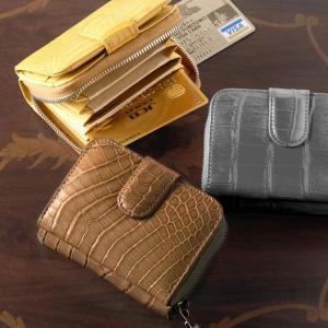 [MEN's]ナイルクロコダイルコイン & カードケース ボックス型小銭入れ付き 革小物|j-white