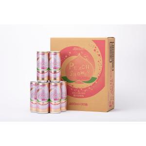 炭酸入り果汁飲料 青森もも果汁25% ピーチシャワー 250ml×30缶入り|jaaoren