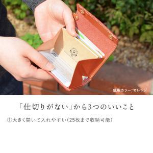 カードケース メンズ レディース 本革 栃木レザー カードいっぱいケース HUKURO jacajaca 02