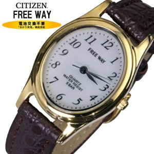 シチズン時計FREE WAY ソーラー発電腕時計レディースA...