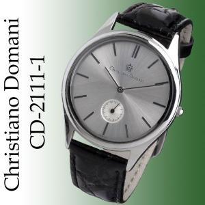 当店限定 クリスチャーノ・ドマーニ Christiano Domani 腕時計 メンズ スモールセコンド搭載 フォーマルデザイン CD-2111-1 独占販売|jackal