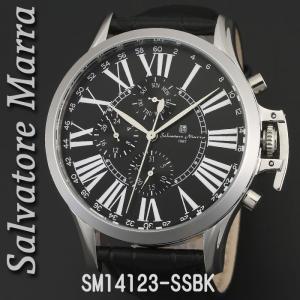 送料無料 腕時計メンズ Salvatore Marra サルバトーレマーラ メンズ 腕時計 多軸 リューズカバー付 革ベルト クォーツ SM14123-SSBK|jackal