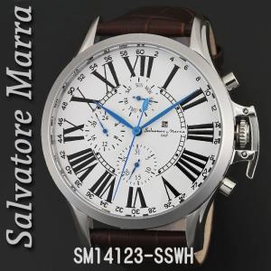 送料無料 腕時計メンズ Salvatore Marra サルバトーレマーラ メンズ 腕時計 多軸 リューズカバー付 革ベルト クォーツ SM14123-SSWH|jackal