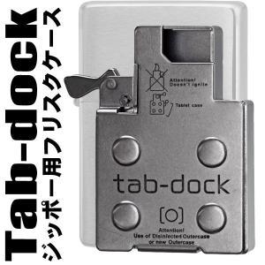 ZIPPOライターに使うと便利!≪ジッポーケース付き≫インサイドユニット挿入型フリスクケース(ピルケース)tab-dock タブドック|jackal