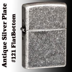 zippo(ジッポーライター)Antique Silver Plate 121 Flat Bottom 銀古美仕上げ アンティークシルバープレート|jackal