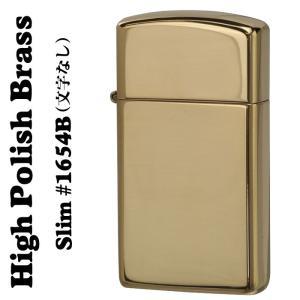【ZIPPO】HIGH POLISH BRASS・SLIM #1654B(真鍮) (SOLID BR...
