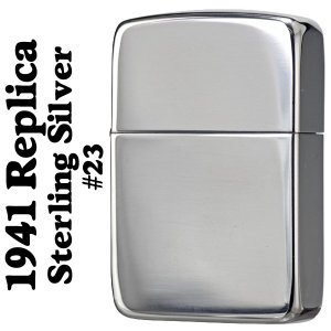 【ZIPPO】1941レプリカジッポー純銀 No.23  使うほどに手になじむ柔らかい質感は、やはり...