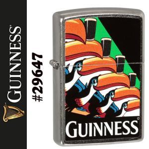 zippo(ジッポーライター) ギネスビール GUINNESS BEER トゥーカン TOUCAN ストリートクローム #29647|jackal