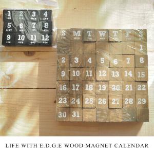【WOOD MAGNET CALENDAR】木製のマグネットカレンダー L