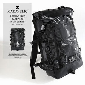MAKAVELIC/マキャベリック バックパック 「CHASE」 DOUBLE LINE BACKPACK BLACK EDITION 3107-10123|jackpot
