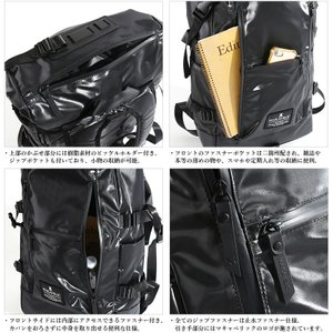 MAKAVELIC/マキャベリック バックパック 「CHASE」 DOUBLE LINE BACKPACK BLACK EDITION 3107-10123|jackpot|04