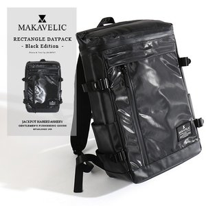 MAKAVELIC/マキャベリック デイパック 「CHASE」 RECTANGLE DAYPACK BLACK EDITION 3107-10124|jackpot
