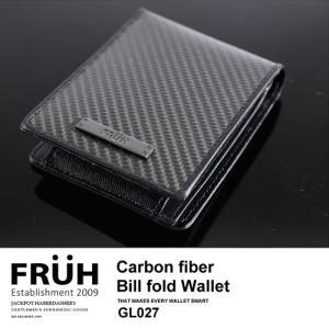 FRUH/フリュー リアルカーボン・2つ折りウォレット GL027|jackpot