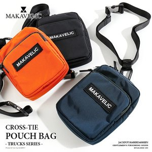 MAKAVELIC/マキャベリック ポーチバッグ TRUCKS CROSS-TIE POUCH BAG 3108-10507|jackpot